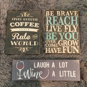 Accents - 3 signs, great small gifts!